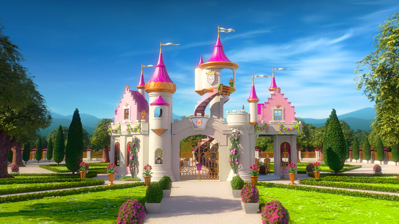 Playmobil princesse d 39 un jour le film youtube - Chateau de barbie ...