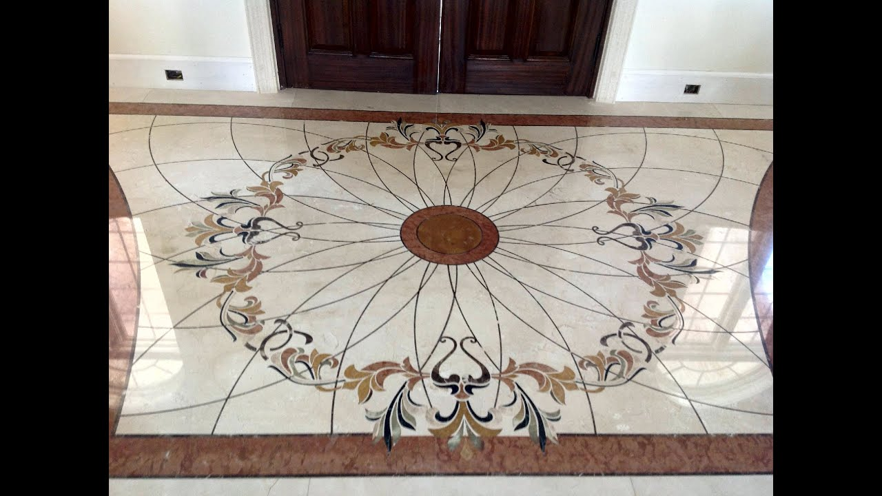 Custom marble medallions and floor decor by artizan for The floor decor