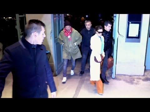 EXCLUSIVE : David and Victoria Beckham leaving Paris at Gare du Nord