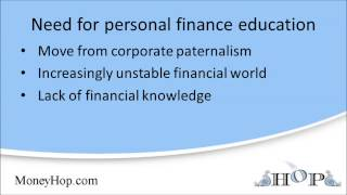 The need for personal finance education