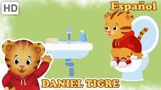 Daniel Tigre en Español 🚽 Canciones de Baño (15 Minutos!) | Videos para Niños thumbnail