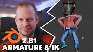 Armature rigging and Leg IK in Blender 2.81 for simple characters