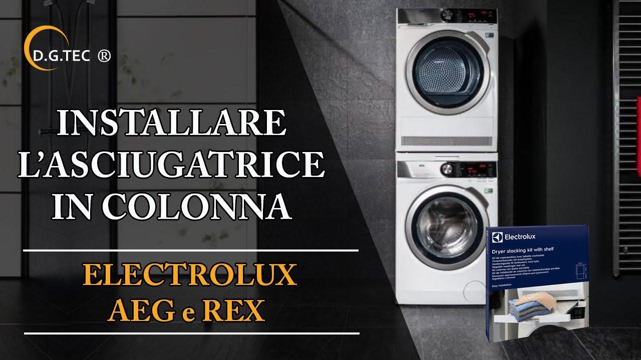 Installare in colonna una lavatrice e asciugatrice Rex Electrolux Aeg - YouTube