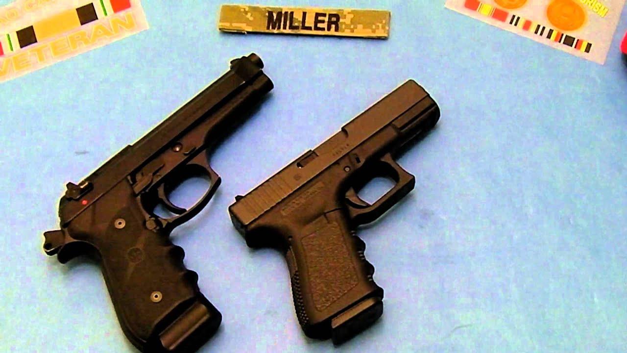 Glock 19 vs Beretta 92FS Size Comparison