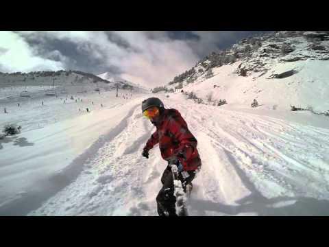 Arinsal-Pal Andorra Snowboarding January 2016