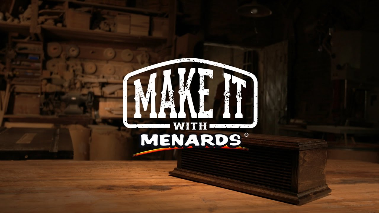 Make It With Menards Furniture Designer Bk Ellison Youtube