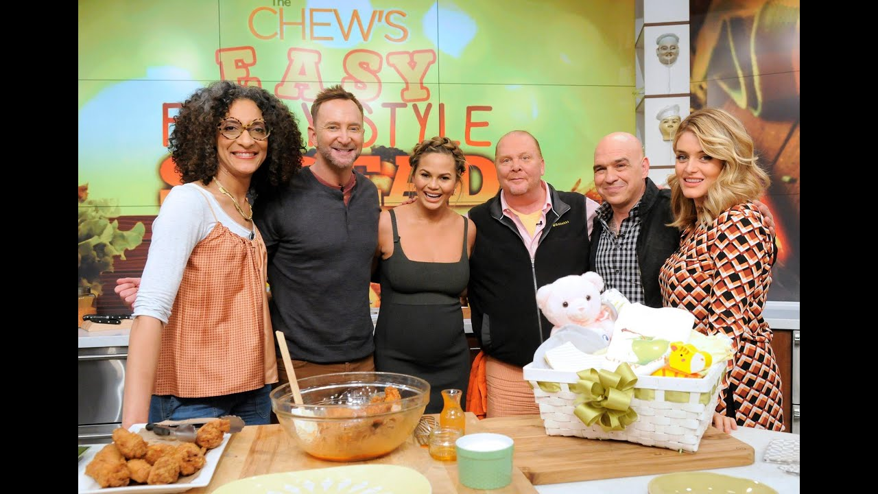 The Chew chrissy teigen shows off her special chicken wing recipe - the