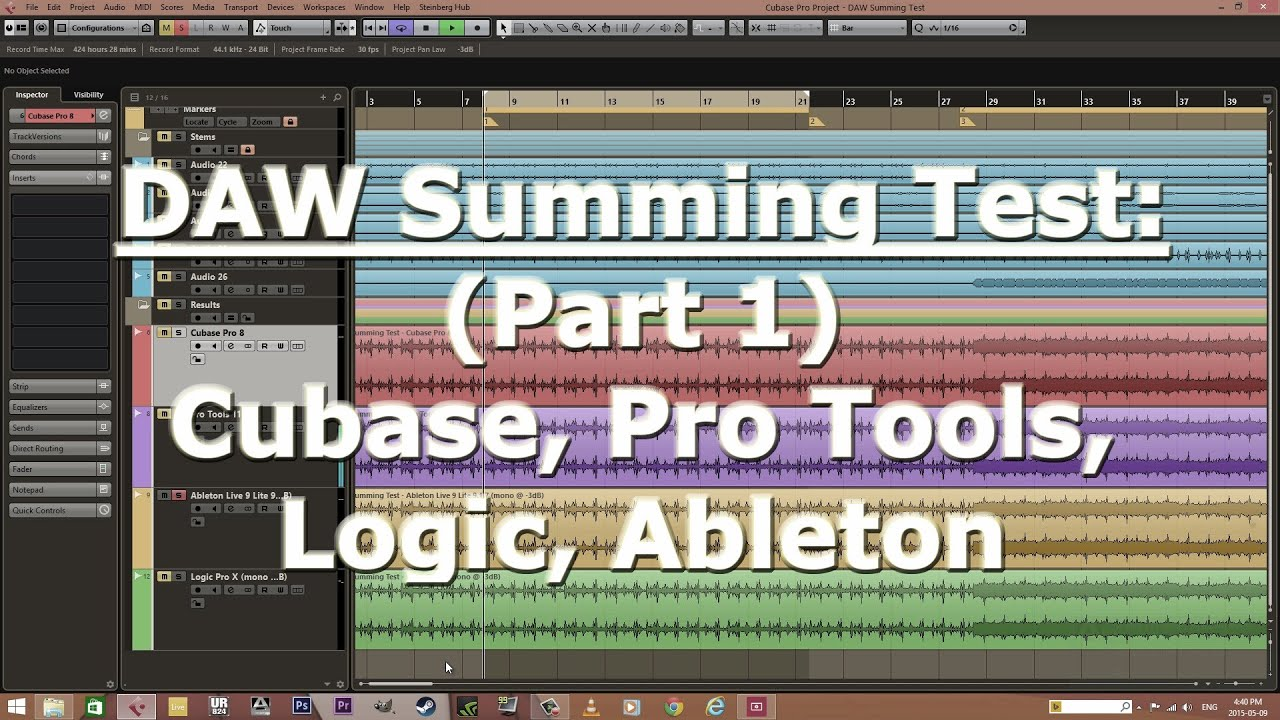 Daw internal summing test part 1 cubase pro tools - Difference between ableton live lite and full version ...