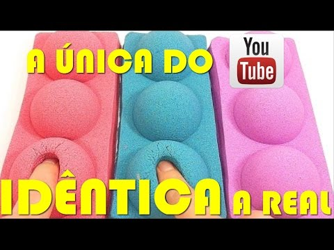 AREIA CINÉTICA, A UNICA DO YOUTUBE IDÊNTICA A REAL! DIY REAL KINETIC SAND
