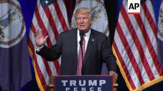 Trump Jokes About Having Baby Ejected at Rally