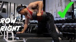 STOP Doing Dumbbell Rows (With STRICT Form)
