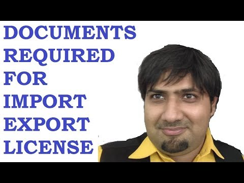 Documents Required For Import Export License 9029093494