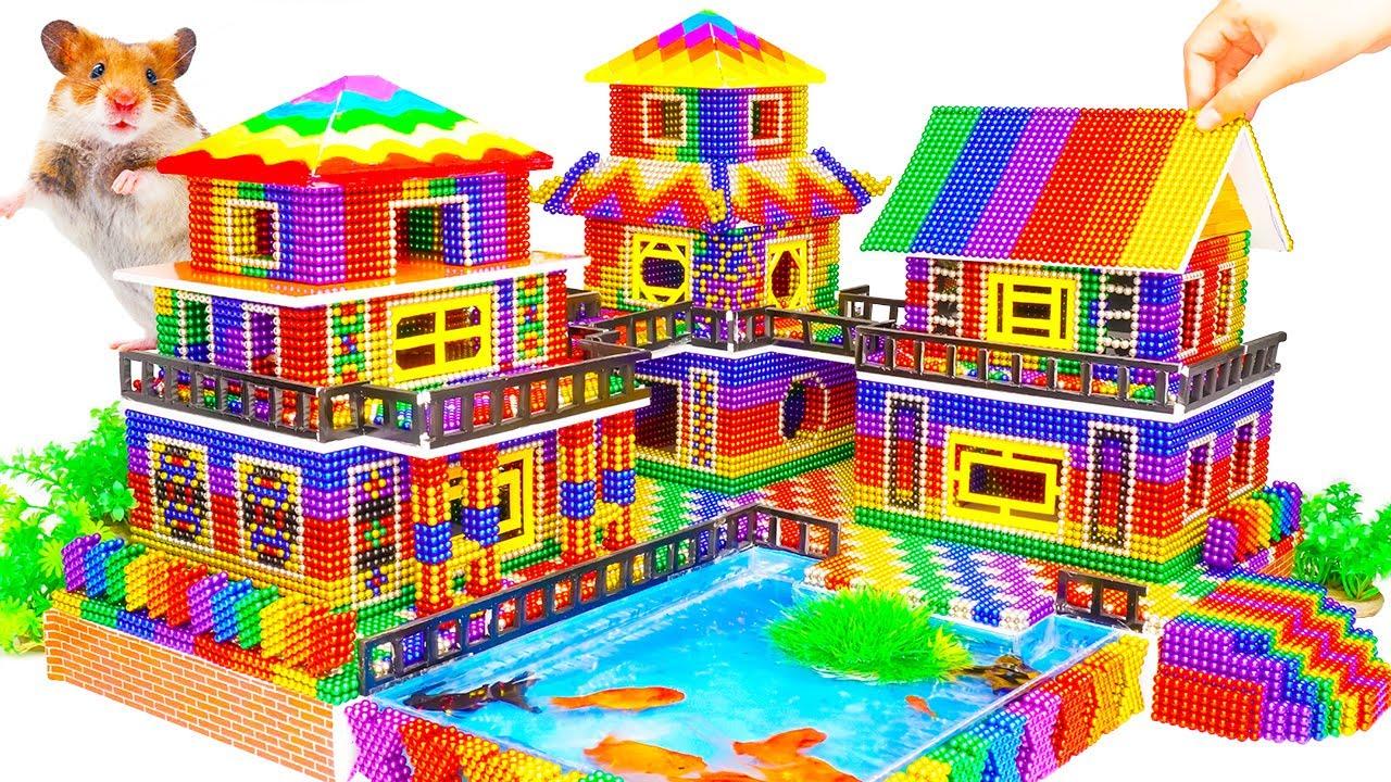 DIY - Build Amazing Hamster House Has Swimming Pool Aquarium With Magnetic Balls (Satisfying)