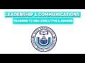 LEADERSHIP & COMMUNICATIONS training to NSU Executive & Admins