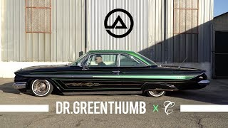 Rolling Low & Slow In Dr Green Thumb | 1961 Bubble Top Impala