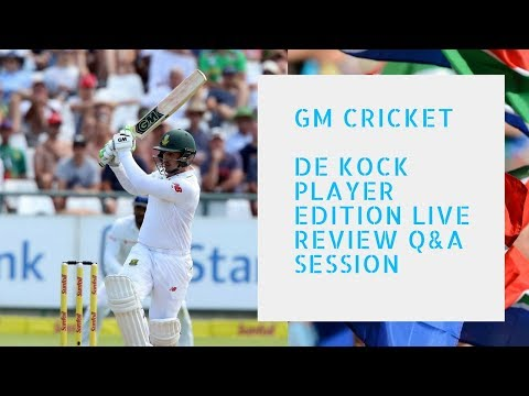 Live Review GM Cricket De Kock Player Edition Cricket Bat & LIVE Q&A