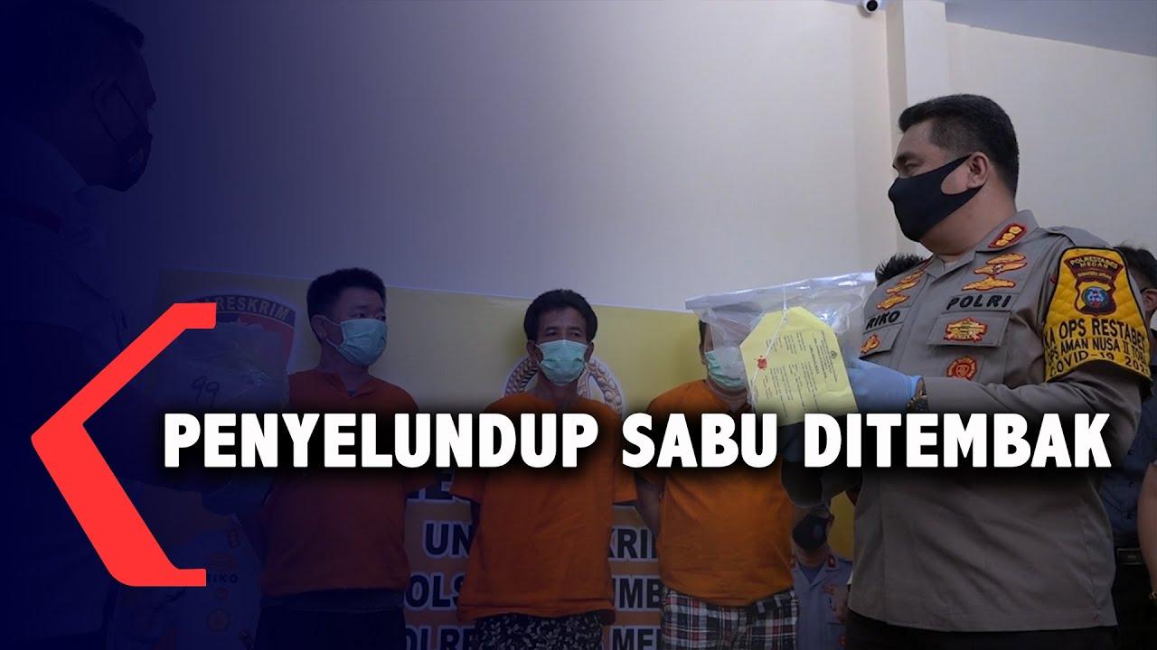 Penyelundup Sabu 2 Kg Ditembak Polisi di Medan