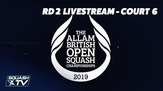 Squash: Allam British Open - Court 6 Livestream - Rd 2