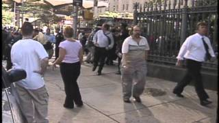 9/11 WTC Evacuation, triage for injured, falling man