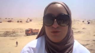 بنات مصر فى مواقع حفر قناة السويس الجديدة اغسطس 2014
