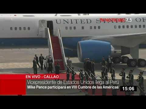 Vicepresidente de EE. UU. Mike Pence llega a Lima para la VIII Cumbre de las Américas