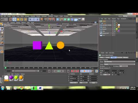 Cinema 4D: Basic Lighting and Materials Tutorial