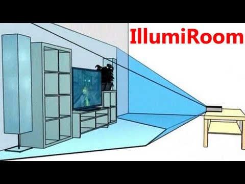 Augmented Reality for your Xbox and Living Room - IllumiRoom