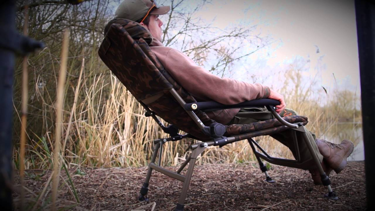 camo recliner chair rocking springs carp fishing tv fx super deluxe youtube