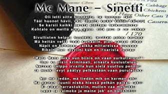 Mc Mane - Sinetti