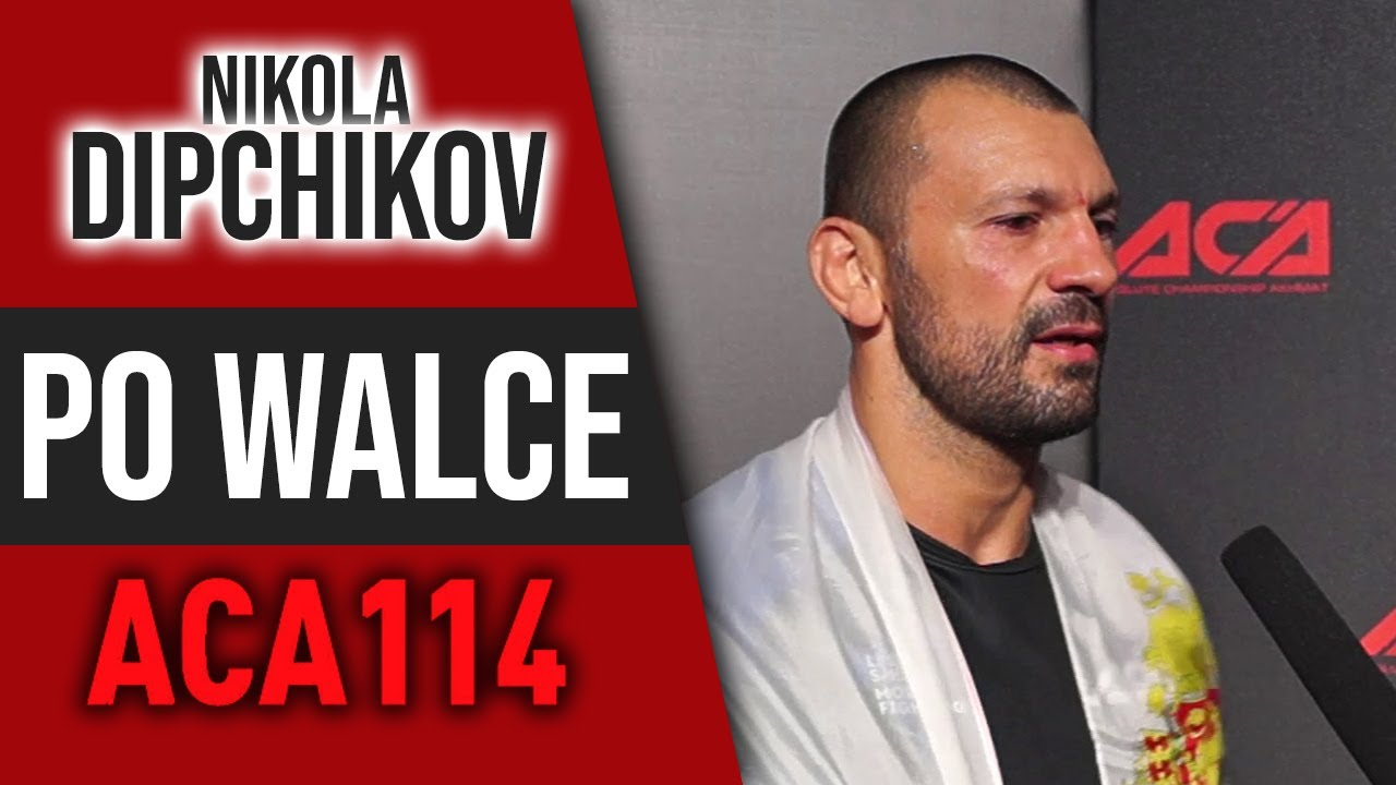 Nikola Dipchikov po znokautowaniu Haratyka na ACA 114