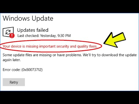 """Fix: """"Your Device Is Missing Important Security And Quality Fixes"""" Error In Windows Update"""
