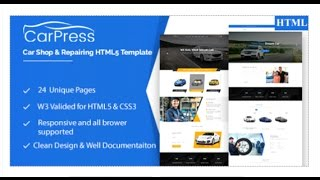 CarPress || For Car Shop and Car Repiar HTML5 Template | Themeforest Download