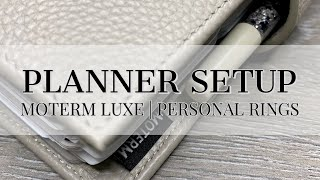 Updated Planner Setup - Moterm Luxe Personal Rings - June 2021