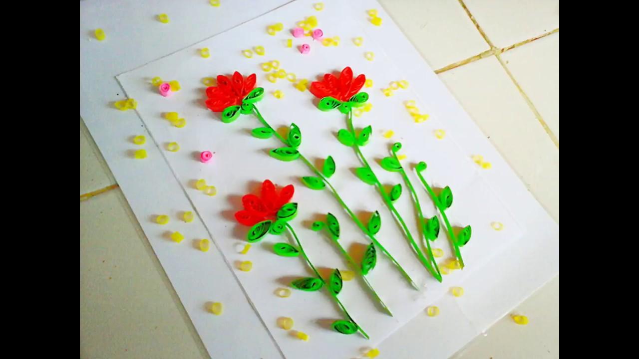 Cara Membuat Bunga Dari Kertas Youtube
