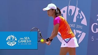Tennis - Women's Doubles 1st Round (Day 6) | 28th SEA Games Singapore 2015