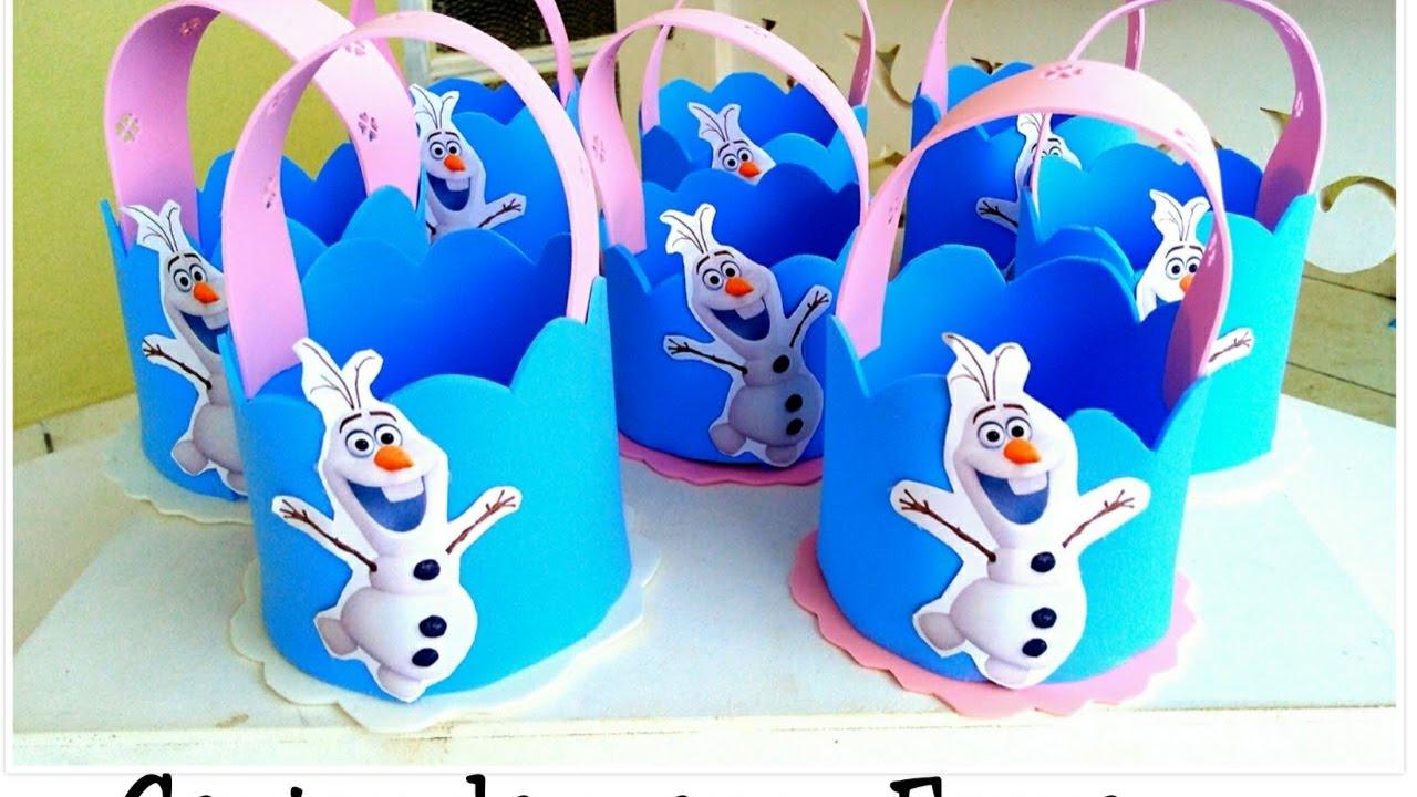 Centro De Mesa Frozen Lembrancinha De Aniversário Youtube