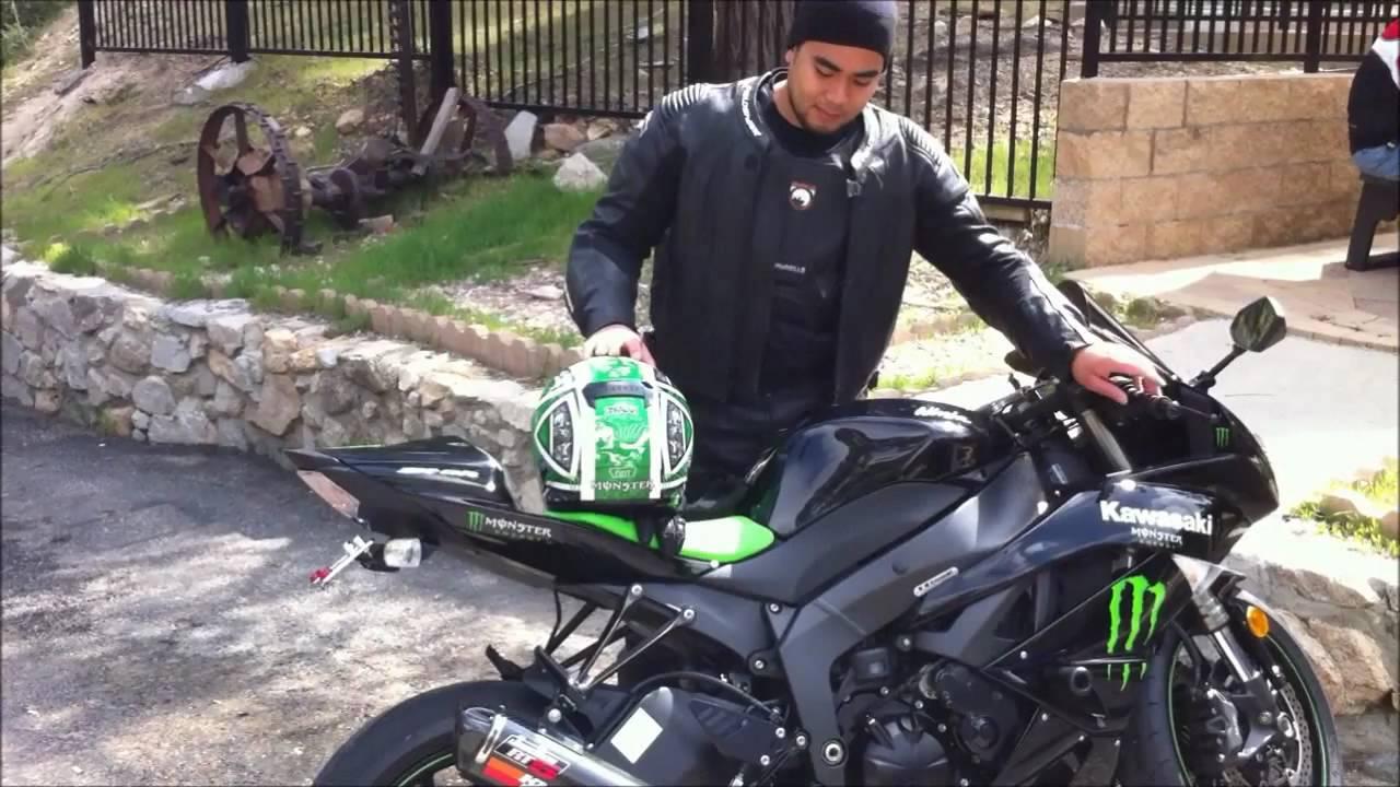 Kawasaki Ninja Zx6r Walk Around Engine Sound Jardine Rt5 Slip On