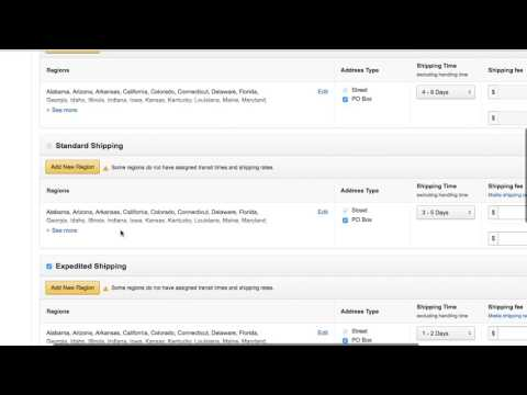 How To Change Amazon Shipping Rates, Make an Amazon Template