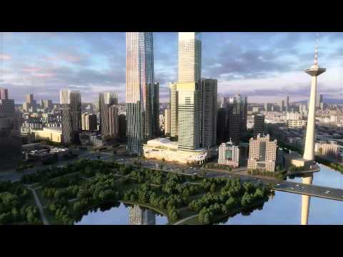 3D animation of Financial Centre