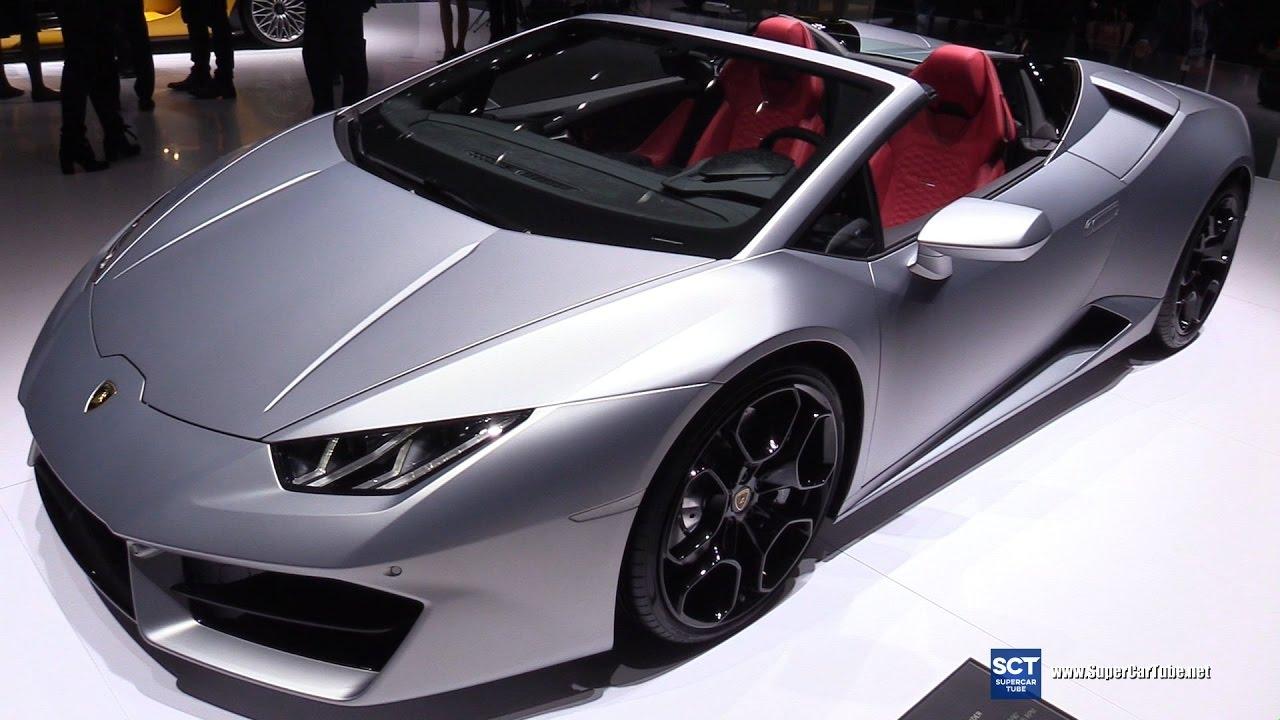 2017 Lamborghini Huracan Rwd Spyder Exterior Interior Walkaround