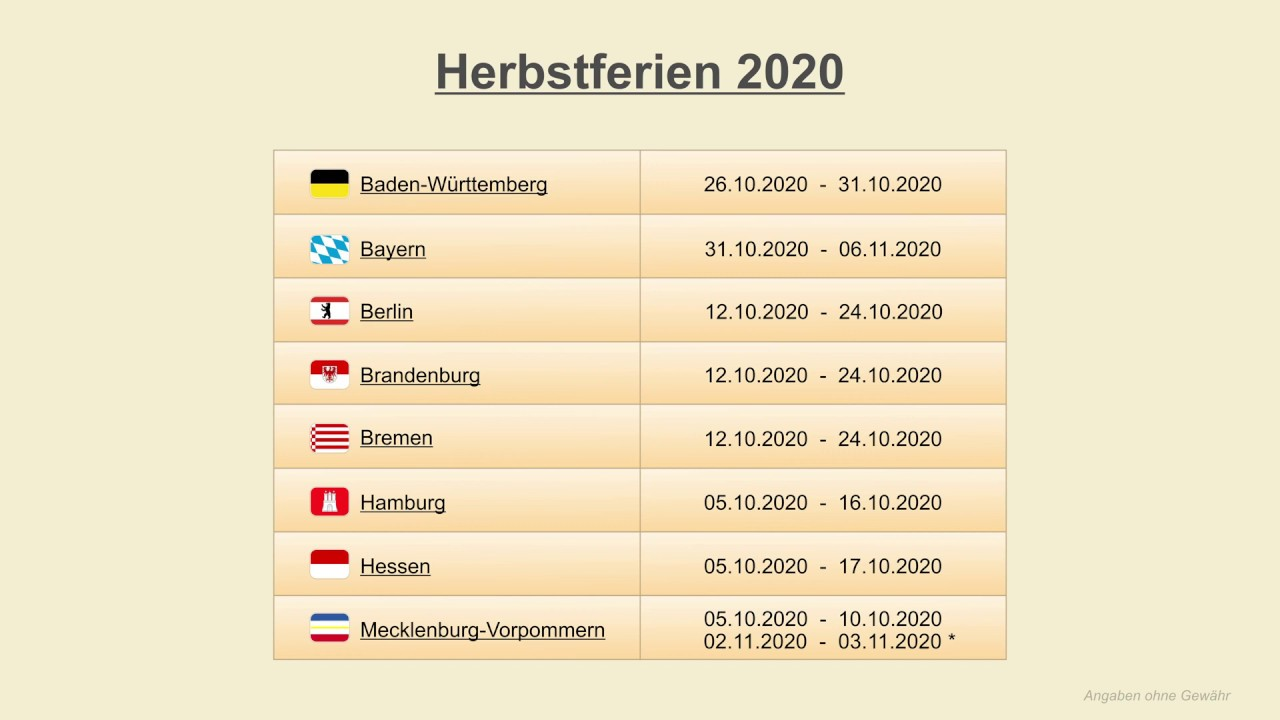 Sommerferien in sachsen 2020