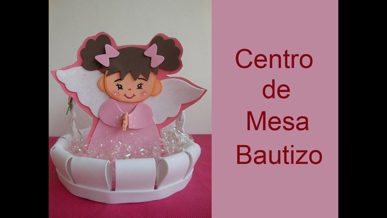 Centro de mesa para bautizo centerpiece christening for Mesa para manualidades
