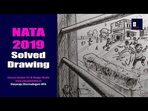 NATA 2019 Solved Drawing