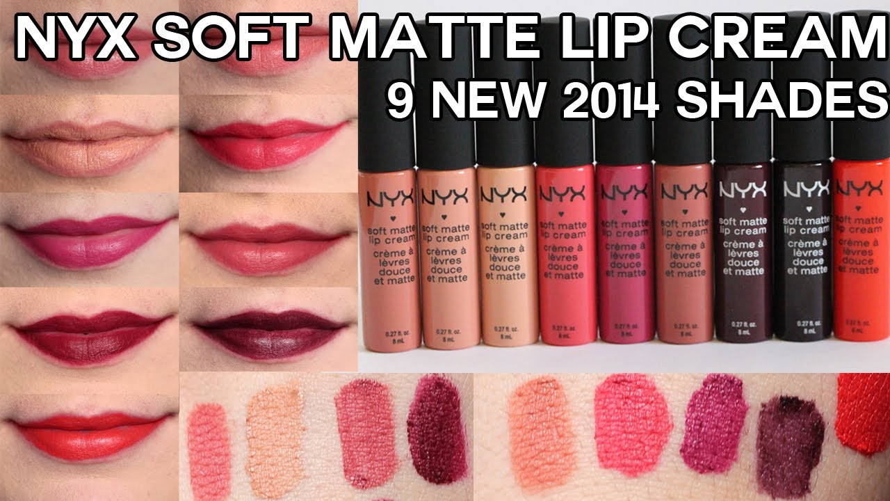 New Nyx Soft Matte Lip Creams For 2014 Swatches Review