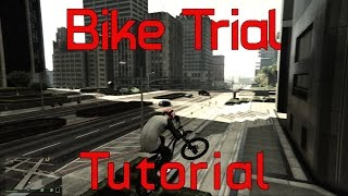 GTA 5. Bike Trial Tutorial / Обучение езде по стенам
