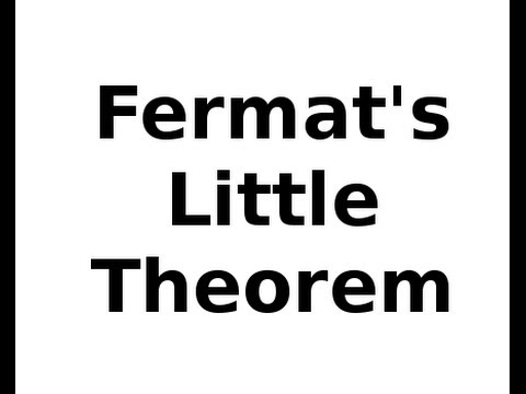 Number Theory Fermat's Little Theorem