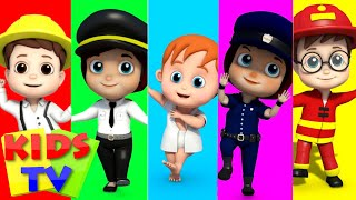 Community Helpers | Finger Family | Nursery Rhymes | Songs For Children | Baby Songs Kids Tv