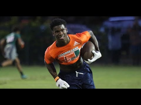 Wide Receivers and Tight Ends at 2018 Paradise Camp