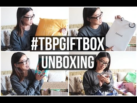 UNBOXING THE #TBPGIFTBOX | IDRESSMYSELFF
