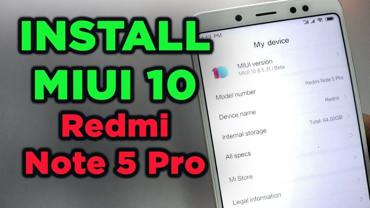 Redmi note 5 pro miui 10 beta download | How to Install MIUI